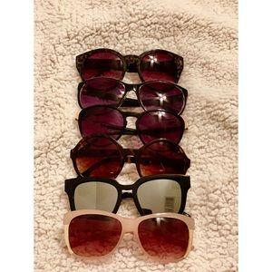 Accessories - Six pairs of sunglasses